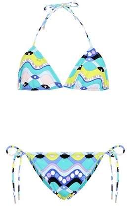 Emilio Pucci Beach Bedruckter Triangel-Bikini
