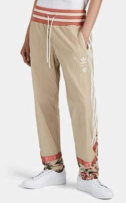adidas Men's Floral-Hem Snap-Apart Track Pants - Sand