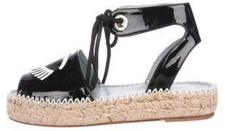 Chiara Ferragni Patent Leather Espadrille Sandals