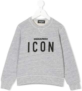 DSQUARED2 icon logo print sweatshirt