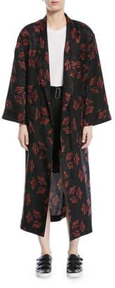 A.L.C. York Printed Silk Robe Jacket