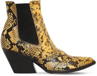 Elena Iachi 60mm Snake Print Leather Cowboy Boots