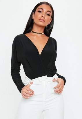 Missguided Black Wrapped Bodysuit