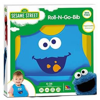 Sesame Street Molto Cookie Monster Silicone Bib Sesame Street, Blue