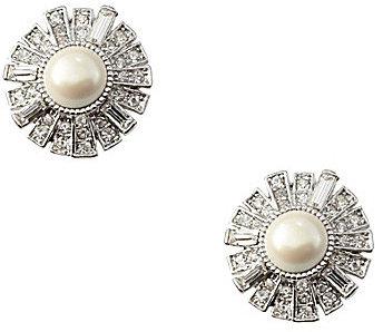 Cezanne Crystal Deco Clip Earrings