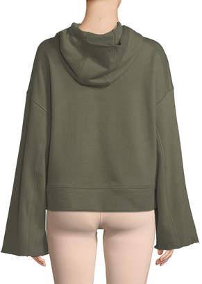 Alo Yoga Low Key Bell-Sleeve Pullover Hoodie