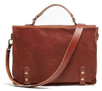 Il Bisonte Cowhide Briefcase in Brown