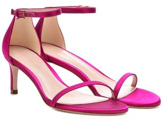 Stuart Weitzman Nudistsong 45 satin sandals