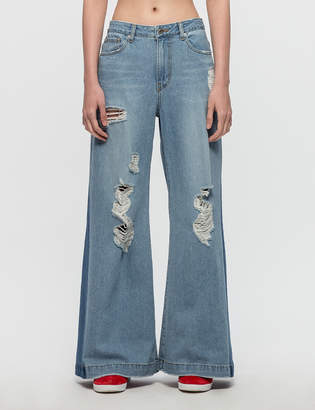 Sjyp Destroyed Wide Jeans