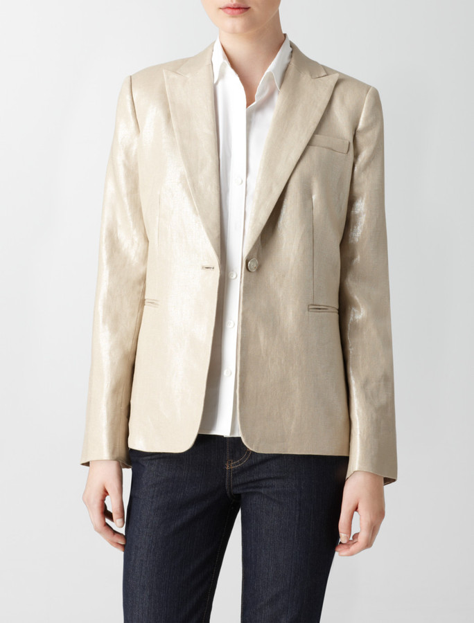 Shimmer Linen Suit Jacket