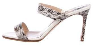 Manolo Blahnik Snakeskin High-Heel Sandals