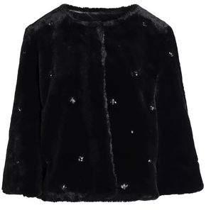 Nayland Crystal-Embellished Faux Fur Jacket