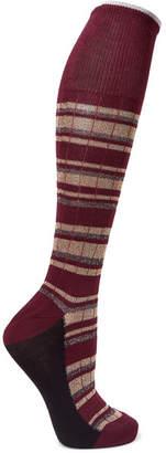 Marni Metallic Striped Cotton-blend Socks - Burgundy