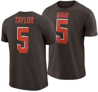 Nike Men Tyrod Taylor Cleveland Browns Pride Name and Number Wordmark T-Shirt