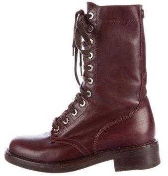 Chanel CC Combat Boots