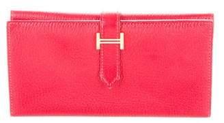 Hermes Chevre Mysore Tri-Fold Bearn Wallet