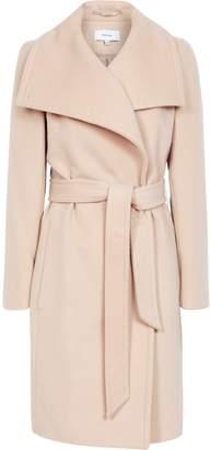 Reiss Luna - Wool Self Tie Coat in Light Taupe