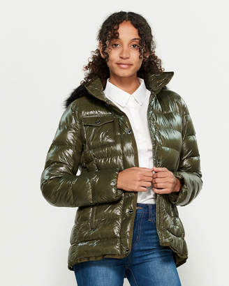MICHAEL Michael Kors Faux Fur-Trimmed Quilted Hooded Coat