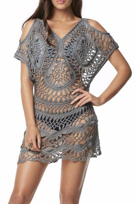 PilyQ Python Crochet Tunic $144 thestylecure.com