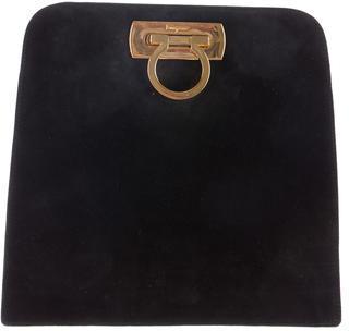 Salvatore Ferragamo Suede Gancini Bag $95 thestylecure.com