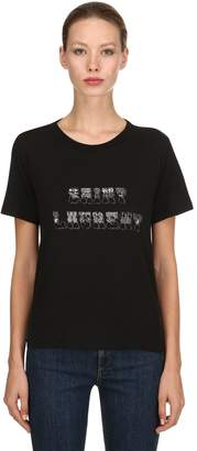 Saint Laurent Cotton Jersey Printed T-Shirt