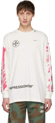 Off-White Off White  Diag Stencil Long Sleeve T-Shirt