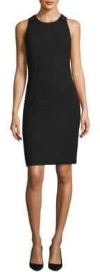HUGO BOSS Textured Stretch Sleeveless Dress