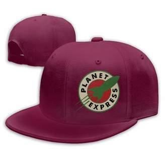 Express Grozinrel Men's & Women's Planet Unisex Casual Style Basketball Dark Red Cap Hat Adjustable Snapback