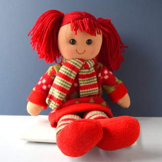 The Alphabet Gift Shop Babies' Personalised 1st Christmas Rag Doll