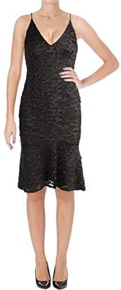 Vera Wang Women's Floral Applique Slip Dress