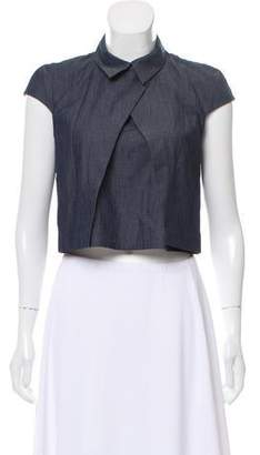 Elle Sasson Collared Chambray Top