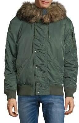 Calvin Klein Faux Fur-Trimmed Jacket