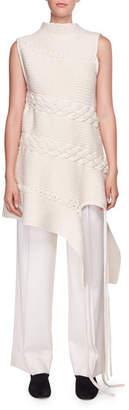 The Row Nadria Sleeveless Cable-Knit Tunic