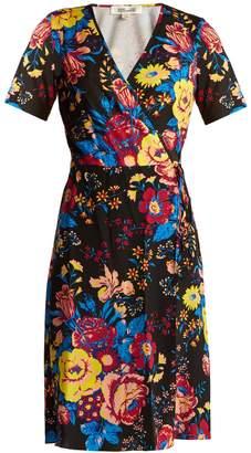 Diane von Furstenberg Bournier floral-print silk wrap dress