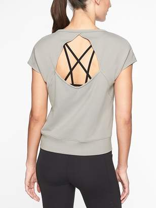 Athleta Open Back Tee
