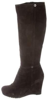 Prada Sport Knee-High Wedge Boots