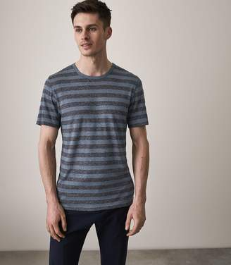 Reiss SWINTON STRIPED CREW NECK T-SHIRT Blue