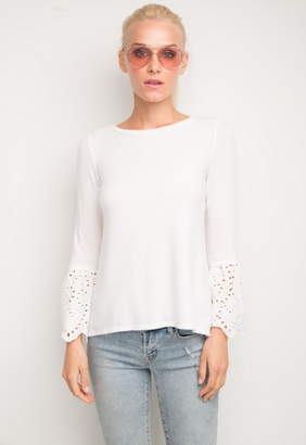 Generation Love Nola Eyelet Lace Bell Sleeve Top