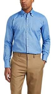 P. Johnson Men's Brushed Cotton Button-Down Shirt - Lt. Blue