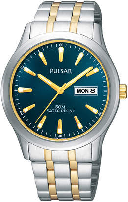 Pulsar Mens Two-Tone Stainless Steel Watch PXN197X