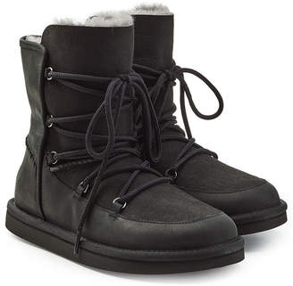 1d46b50e6dc closeout black lace up ugg boots 6504d 88ed4