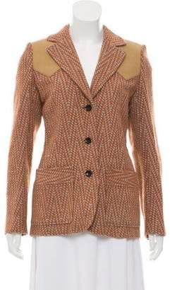 Louis Vuitton Notch-Lapel Patterned Jacket