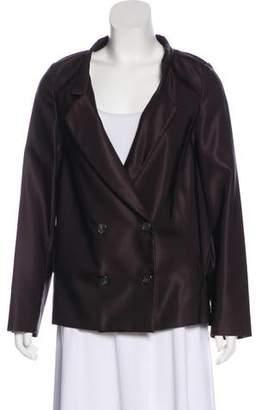 Prada Silk Double-Breasted Blazer