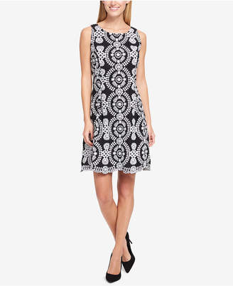 Tommy Hilfiger Embroidered Fit & Flare Dress
