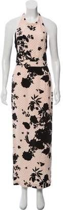 A.L.C. Printed Silk Maxi Dress