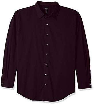 Van Heusen Men's Big and Tall Stripe Sateen Long Sleeve Shirt