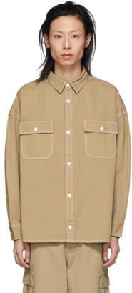 Bobson Wheir Beige Denim Oversized Work Shirt