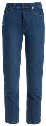 KHAITE Benny Mid Rise Kick Flare Jeans - Womens - Denim