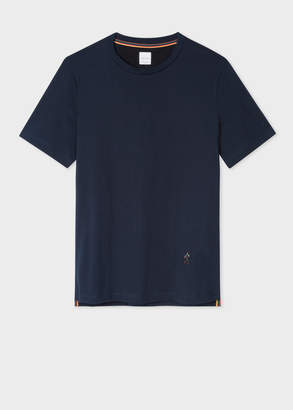 Paul Smith Men's Slim-Fit Navy T-Shirt With 'People' Motif Embroidery