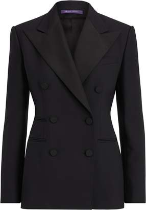 Ralph Lauren Buffy Wool-Silk Tuxedo Jacket